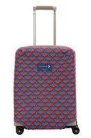 Small suitcase cover with a pattern