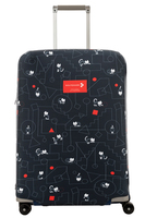 Medium suitcase cover with a pattern
